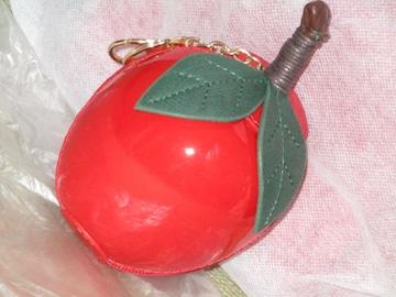未使用☆BIGリンゴモチーフバッグチャーム*コインケース小物入