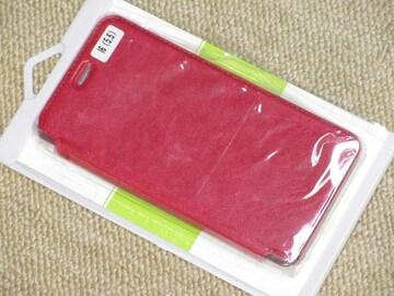 未使用☆iPhone Plusサイズ用*手帳型ケース(レッド系)