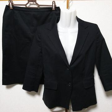 黒、無地、美品 INTER PLANET(インタープラネット)スカートスー