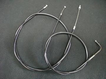 (2021)GX400 10cmロングアクセルクラッチワイヤーセット