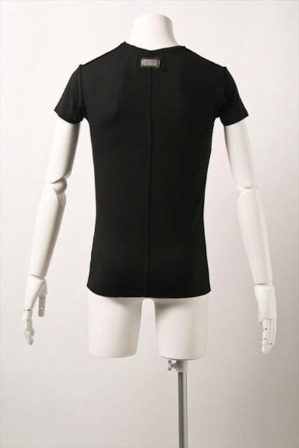 □wjk/ダブルジェイケイ 半袖デザイン Tシャツ/S・ブラック☆新品 < ブランドの