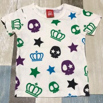 ∂+/BABY DOLL どくろクラウンTシャツ 90