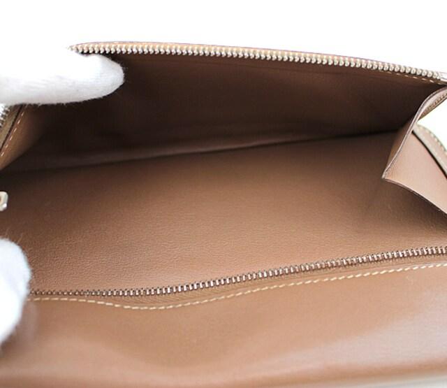 エルメス 長財布 二つ折り財布 ドゴンロング ブラウン k420 < ブランドの