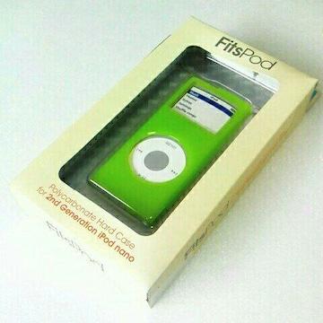 第2世代 iPod nano 専用 ハードケース  黄緑 ポリカーボネイト製