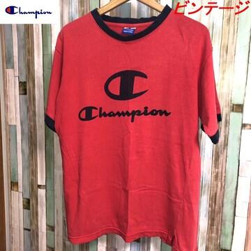 90's ビンテージ CHAMPION ビッグシルエットロゴTシャツ