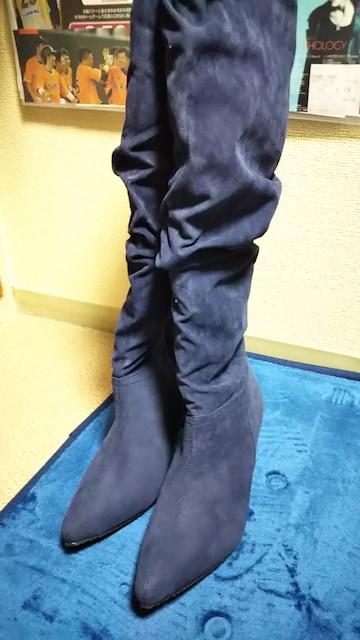 ☆GeeRA美ラインニーハイブーツ☆新品M < 女性ファッションの