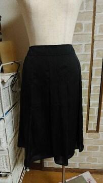 美品 ウェスト73�p 黒色 スカート