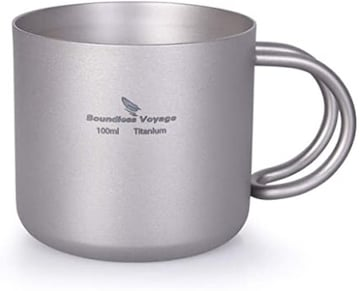 iBasingo 超軽量 100ml チタンカップ マグカップ アウトドアカッ