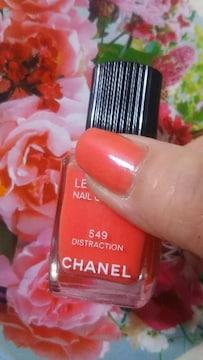 CHANELピンクオレンジ正規品箱キャップなしこ�bT49