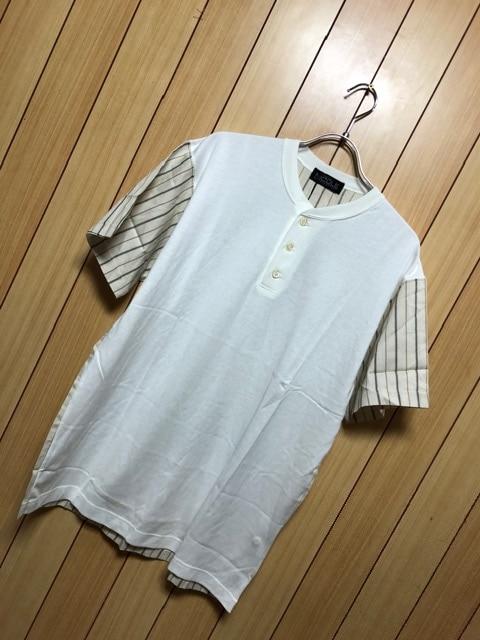 新品タグ付きNICOLE★異素材ドッキングシャツ
