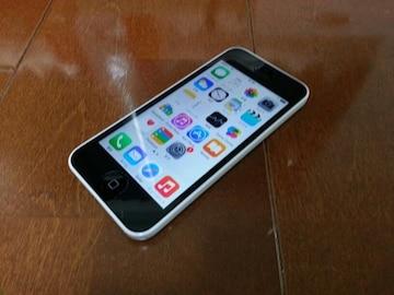 即落/即発!!美中古品 iPhone 5c 32GB ホワイト 一括支払い済