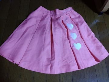 JL-ハートロゴスカート160ピンク
